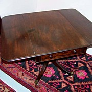 Period Drop-Leaf Mahogany Breakfast Table Ca. 1830