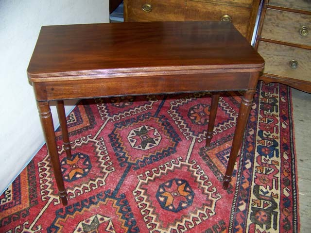Federal Sheraton Mahogany Game Table Ca. 1830