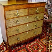 Period English  Mahogany 5 Drawer Chest Ca. 1790