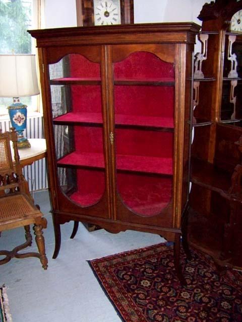 Mahogany Sheraton China Display Cabinet Ca. 1890