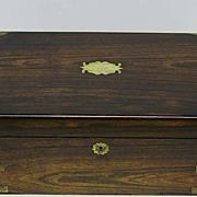 Large Rosewood Reverends Memorial Lap Desk Dated 1852