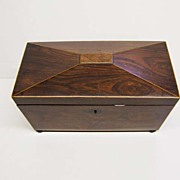 Rosewood Sarcophagus Tea Caddy Ca, 1830