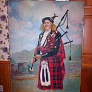 "Signed Oil on Canvas of Scottish Highlander ""Wm. Alex Tulloch"" Listed Artist"