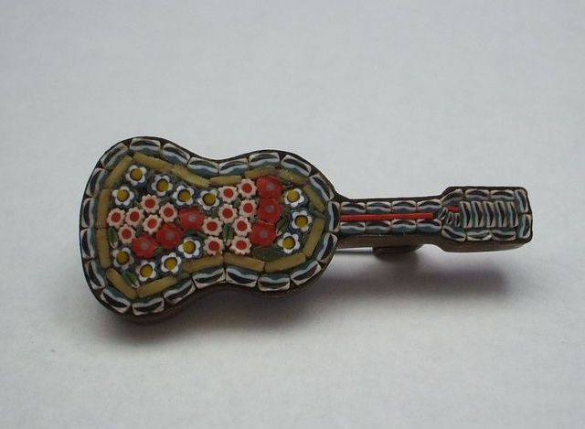 Micro Mosaic Italy Guitar Pin