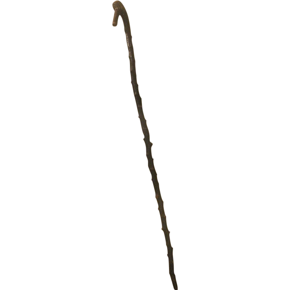 Antique Blackthorn Branch Shillelagh Walking Stick
