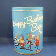 Bugs Bunny Happy Birthday Brach's Jelly Beans Tin