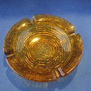 "Soreno Gold Ashtray 6 1/2"" Anchor Hocking"