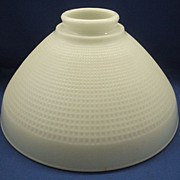 Corning Milk Glass Torchiere Lamp Shade Waffle Block Wide
