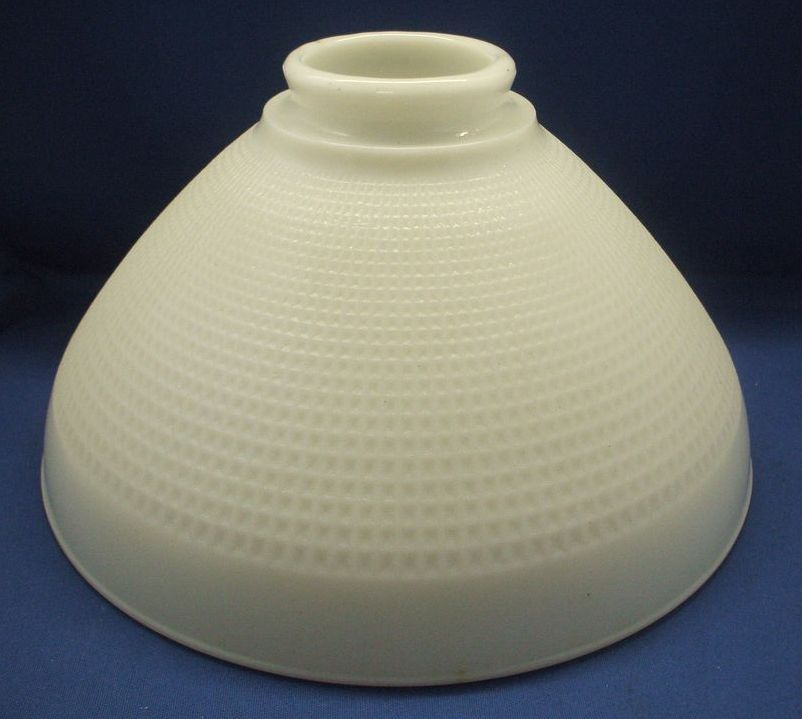 corning milk glass torchiere lamp shade waffle block wide from. Black Bedroom Furniture Sets. Home Design Ideas