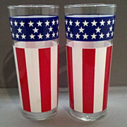 Libbey Stars & Stripes American Flag Tall Lemonade Tumblers