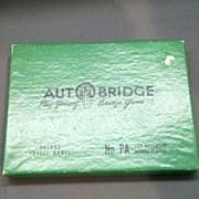 Autobridge Advanced Play Yourself Bridge Game 1957 Green Box
