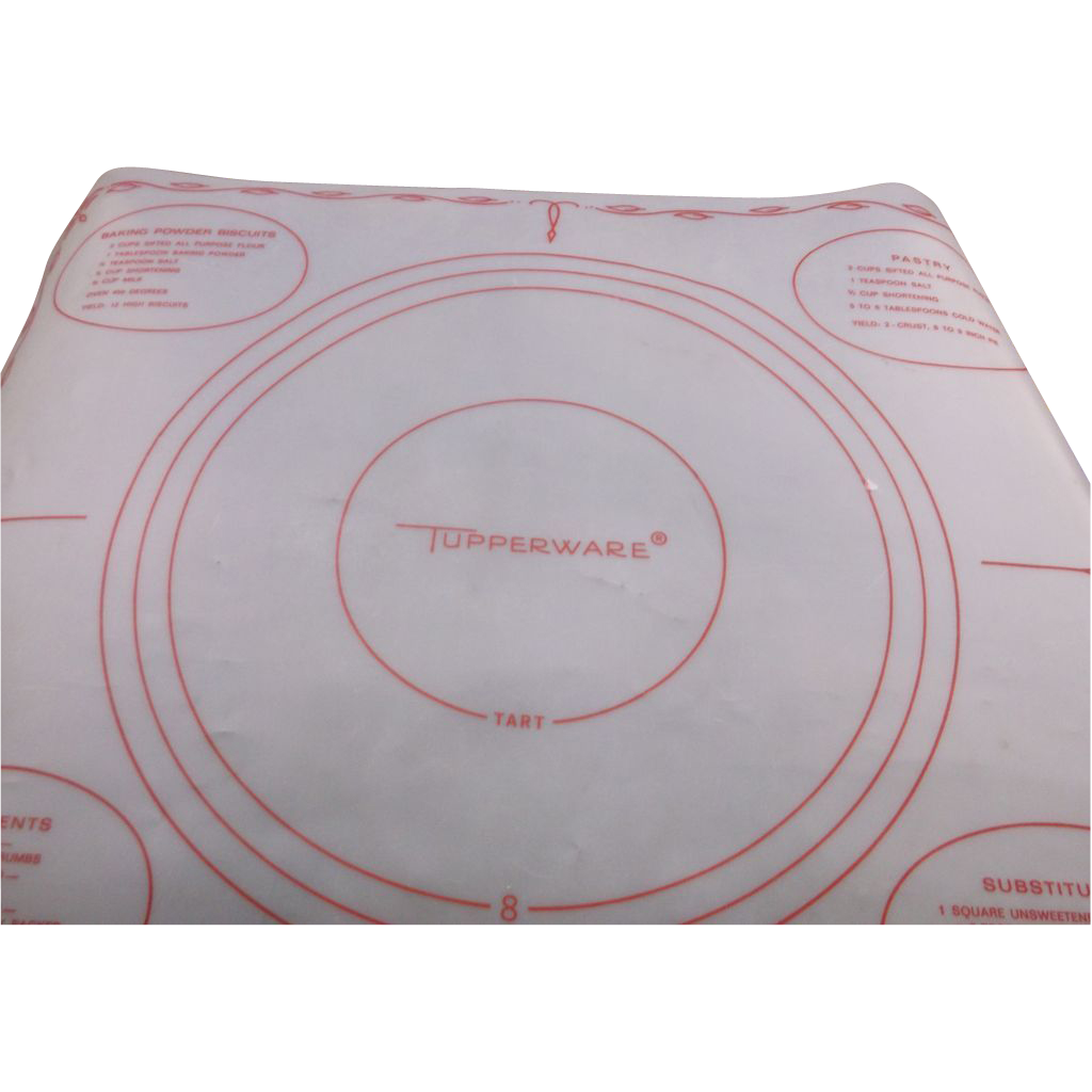 Tupperware Red Print Pastry Sheet 1965 Sold Ruby Lane