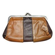 Roger Gimbel Accessories Leather Coin Purse Kiss Clasp