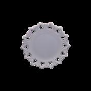 Shell & Club Kemple Milk Glass Plate