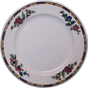 "Syracuse China Dewitt Clinton Flowers 9"" Plate"