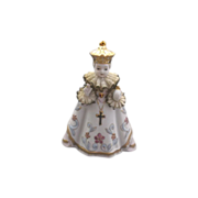 Lefton Infant of Prague Porcelain Figurine Lace Ruffs Hand Painted