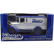 Ertl Kroger Die Cast 1927 Delivery Truck Bank