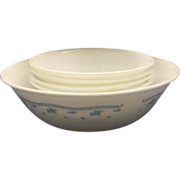Corelle Morning Blue Salad Set Bowls