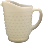 Anchor Hocking Hobnail Milk Glass Small Pint Pitcher