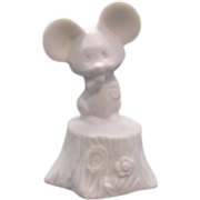 Hallmark Little Gallery Mouse Bisque Porcelain Figurine