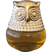 Avon Owl Bottle Roses, Roses 4 Oz Cologne Gelee 1974