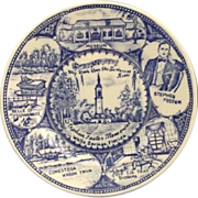 Stephen Foster Memorial Blue Transferware Small Souvenir Plate