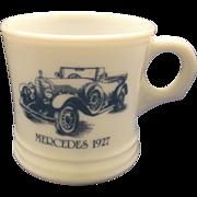 Surrey Mercedes 1927 Milk Glass Shaving Mug