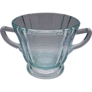 Indiana Recollection Teal Glass Sugar