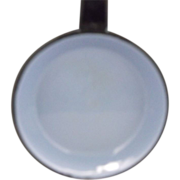 Slate Blue Enamel Black Handle Small Frying Pan