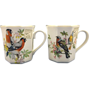 Bird Mugs Porcelain Made in Japan