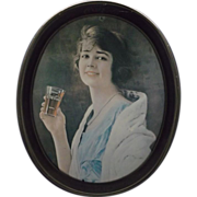 Drink Coca-Cola Young Lady Oval Tray