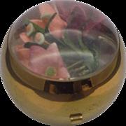 Henriette Ball Compact 1940s Silk Flowers