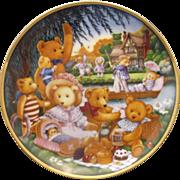 A Teddy Bear Picnic Carol Lawson Franklin Mint Plate