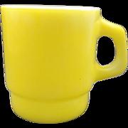 Anchor Hocking Butter Yellow Mug Milk Glass Stacking