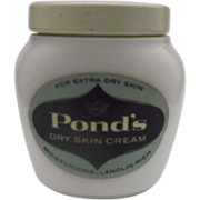 Pond's Dry Skin Cream Milk Glass Jar Still Full