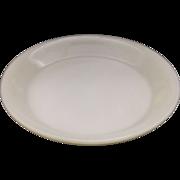 "Fire-King Ivory Pie Plate 9 1/4"""