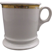 Porcelain Shaving Mug Gold Trim Germany Undecorated