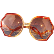 Red Featherlite Big Sunglasses Tawian 1970s