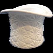 Milk Glass Daisy Button Hat Vase