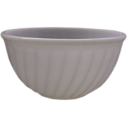 "Fire-King White Swirl 9"" Mixing Bowl - Red Tag Sale Item"