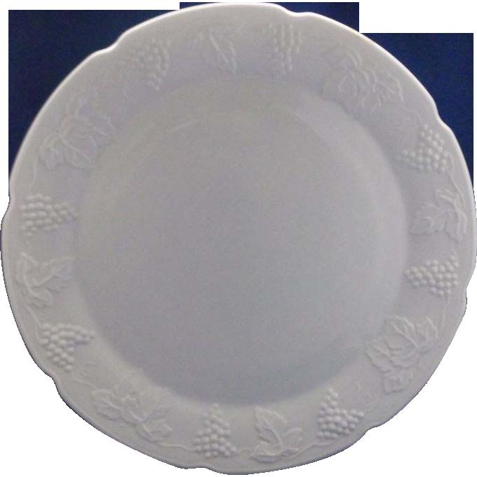 Indiana Glass Harvest Grape Milk Glass Chop Plate Platter