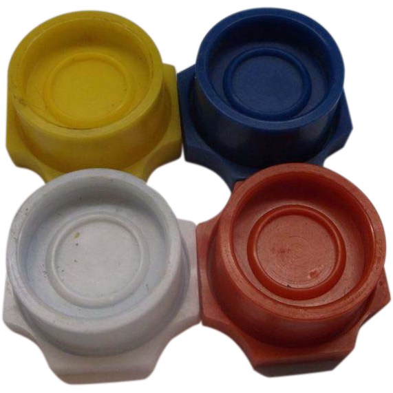 Taiwan Plastic Bottle Caps 2-Way Primary Colors