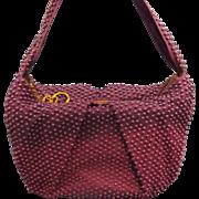Royal Purple Plastic Beaded Purse 1940s