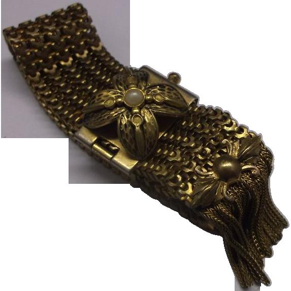 Victorian Mesh Slide Bracelet Fox Tail Fringe