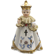 Lefton Infant of Prague Porcelain Figurine Small