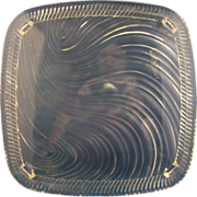 Square Wave Clear Glass Cake Plate