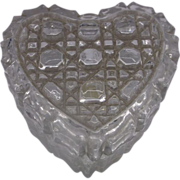 Daisy Button Lead Crystal Heart Trinket Box Taiwan
