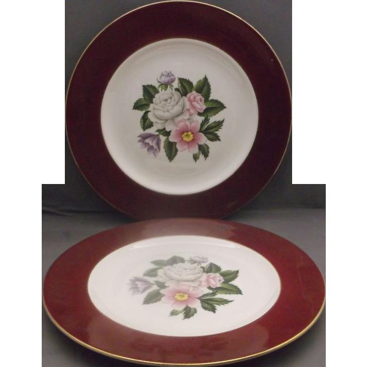 Homer Laughlin Cavalier Margaret Rose Dinner Plates