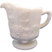 Westmoreland Paneled Grape Small Individual Creamer Milk Glass
