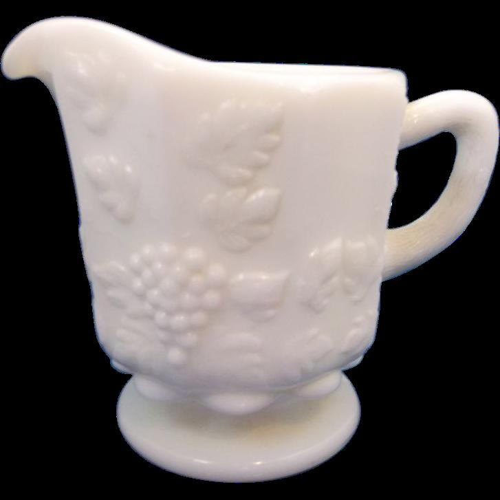 Westmoreland Paneled Grape Small Individual Creamer Milk Glass